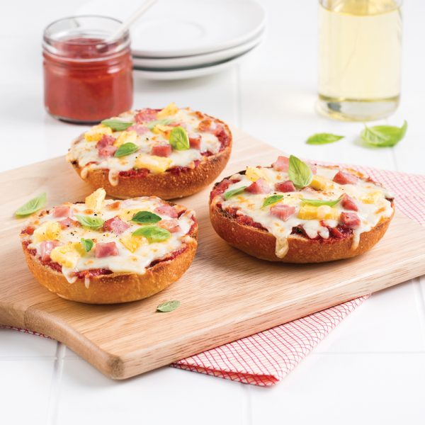 Mini-pizzas jambon-ananas