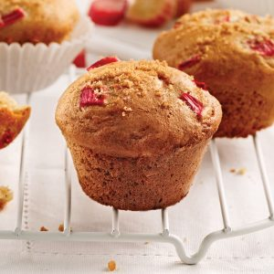 Muffins rhubarbe et orange
