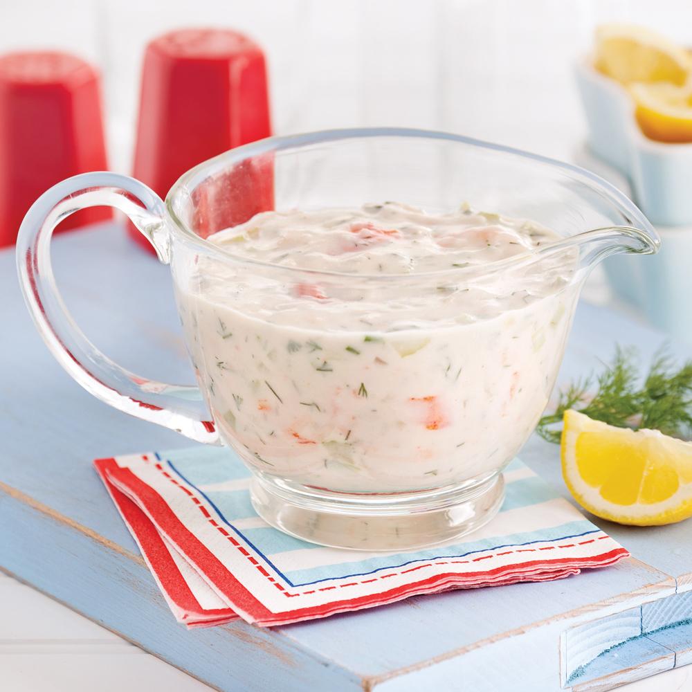En étapes: la sauce aux fruits de mer