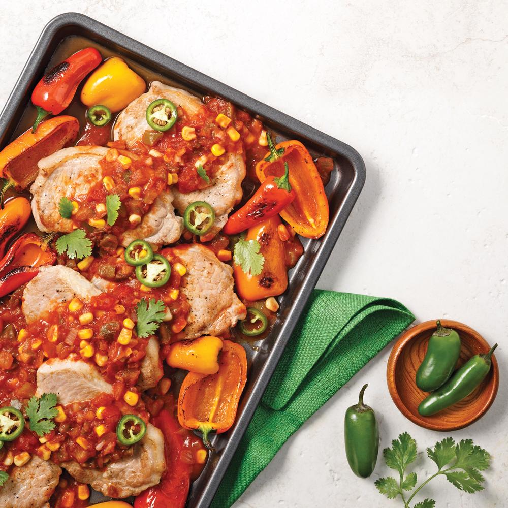 Côtelettes de porc à la salsa