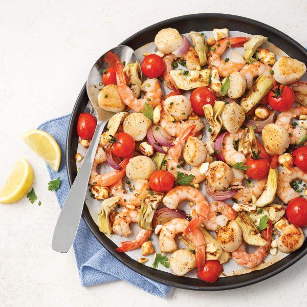 Fruits de mer à la grecque