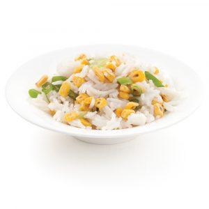 Riz aux grains de maïs grillés
