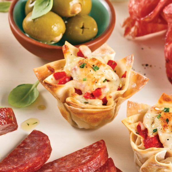 Coupelles de jambon et salami Calabrese