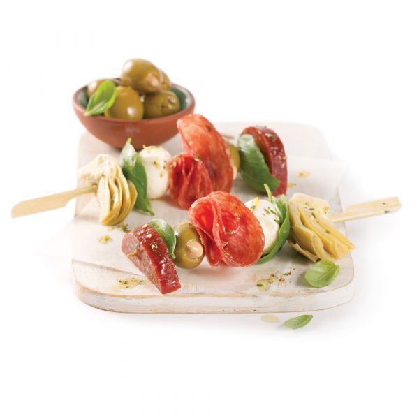 Mini-brochettes antipasto