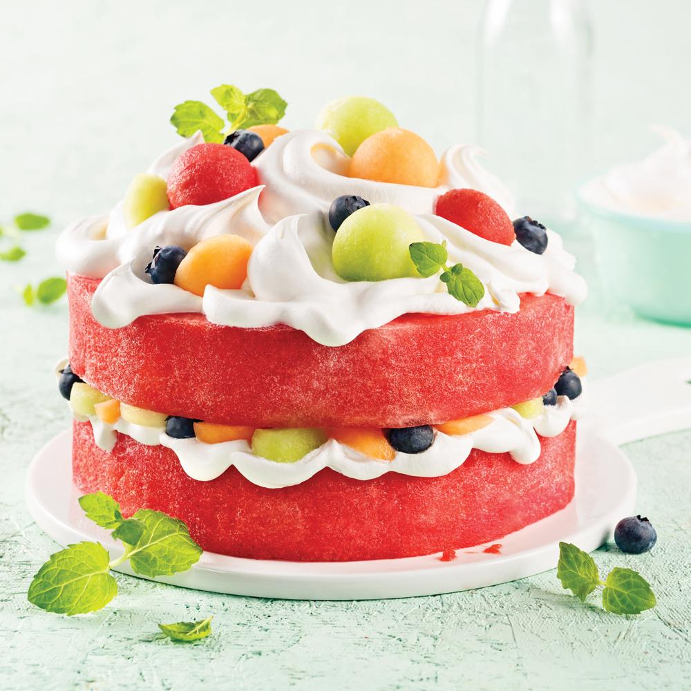 Gâteau de melon d'eau