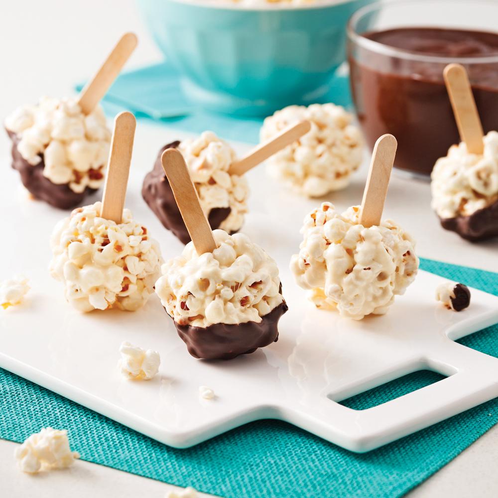 Boules de popcorn