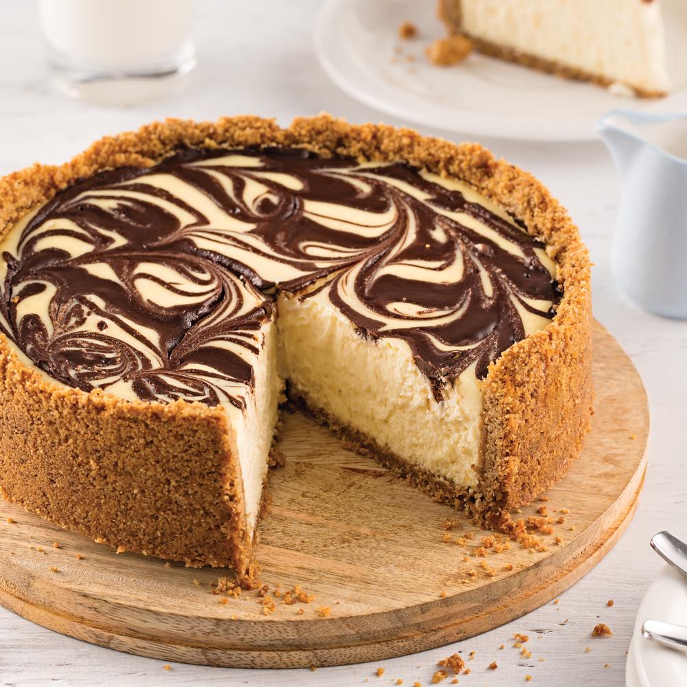 Gâteau au fromage et aux deux chocolats