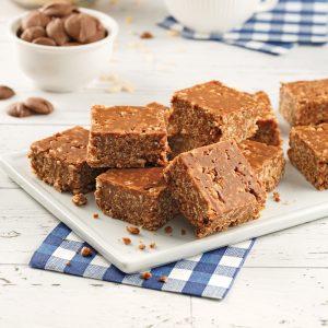 Barres croustillantes au riz soufflé et chocolat