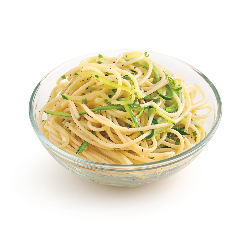 Spaghettis aux courgettes et fines herbes