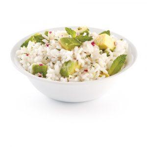 Salade de riz à la menthe et avocat