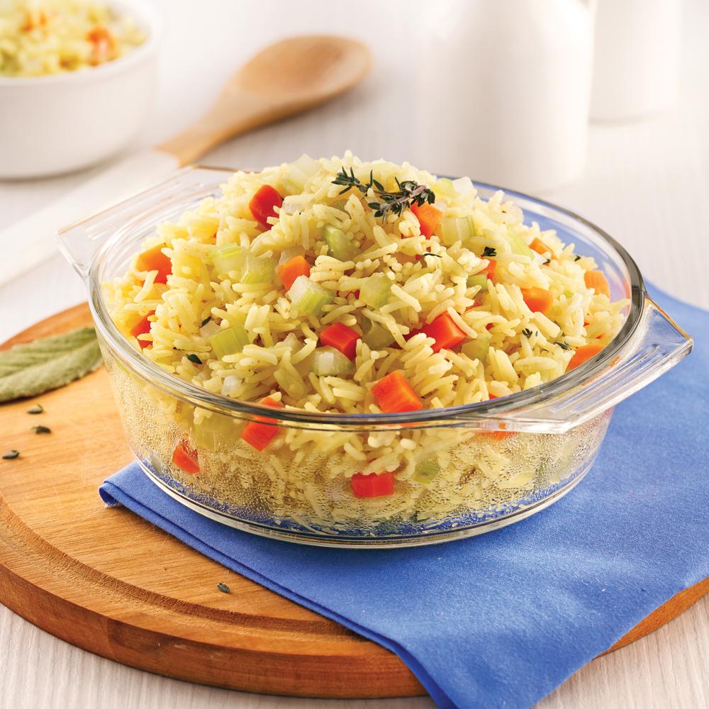 Riz basmati aux légumes et cari