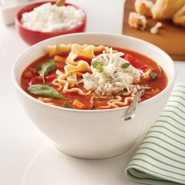 Soupe-lasagne à la ricotta