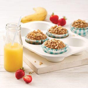 Muffins aux bananes et beurre d'arachide
