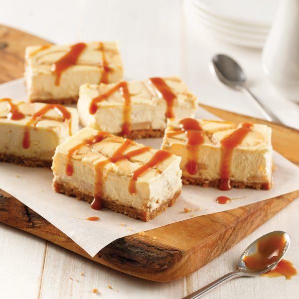 Barres cheesecake à la tarte aux pommes