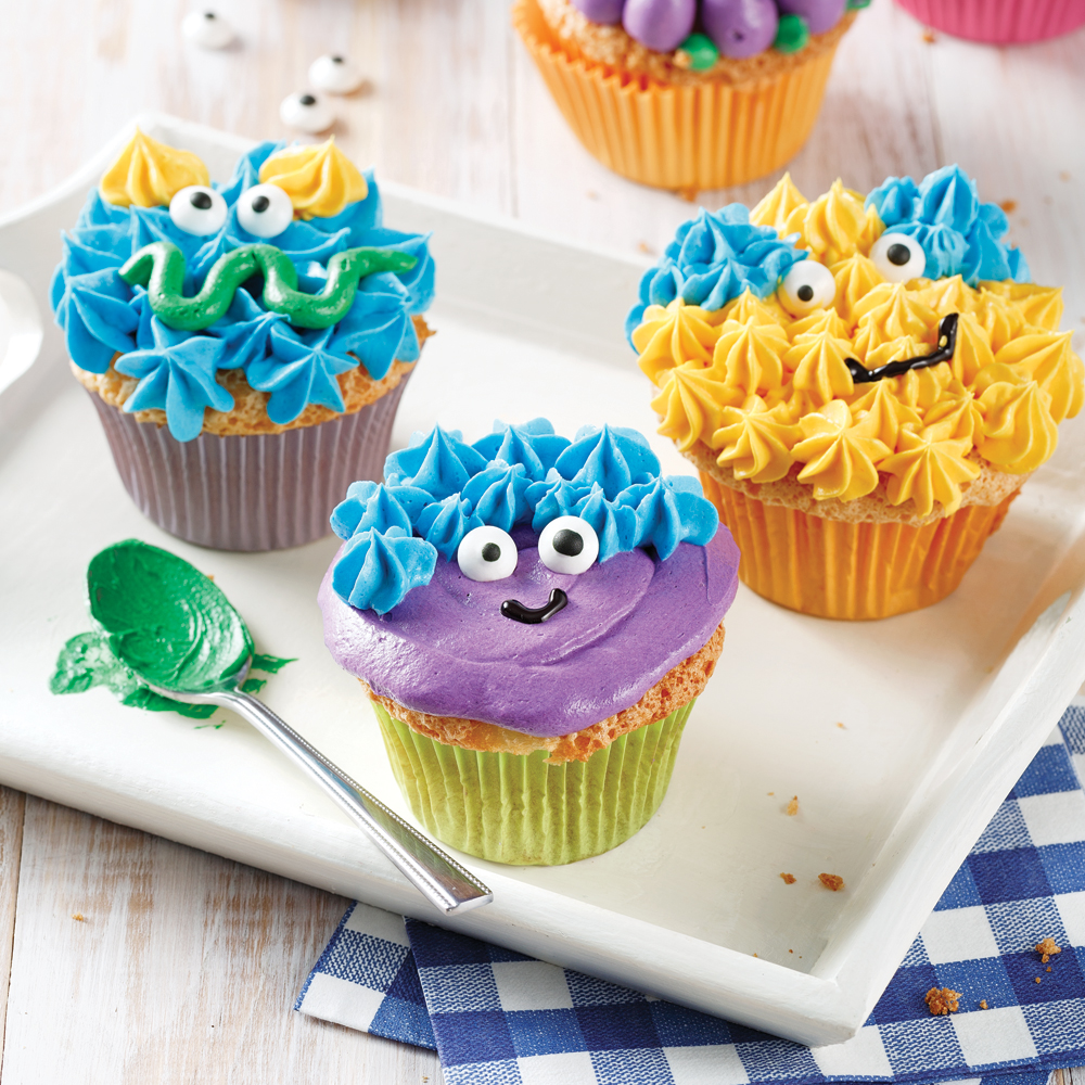 Mini-monstres en cupcakes
