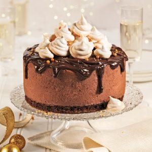 Gâteau-mousse au chocolat et mini-meringues