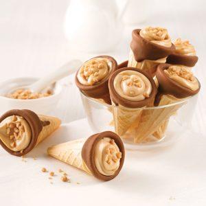Mini-cornets au beurre d'érable et chocolat