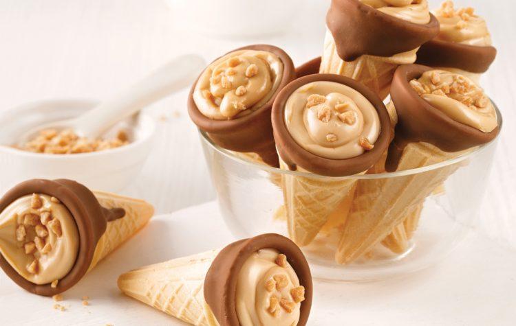 Mini Chocolate and Maple Cones