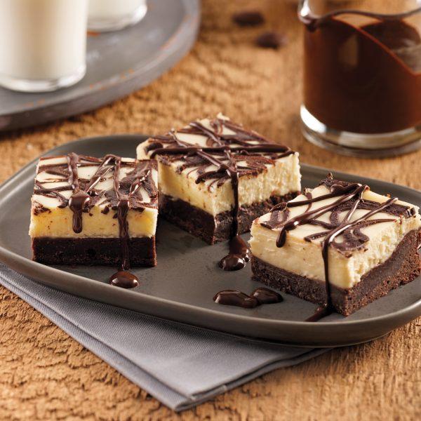 Brownie-gâteau au fromage marbré