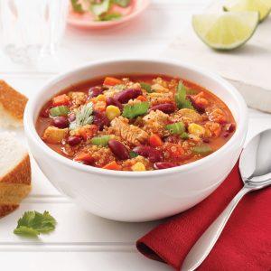 Soupe au poulet, quinoa et légumes pour mijoteuse