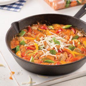 Poêlée de poulet et légumes