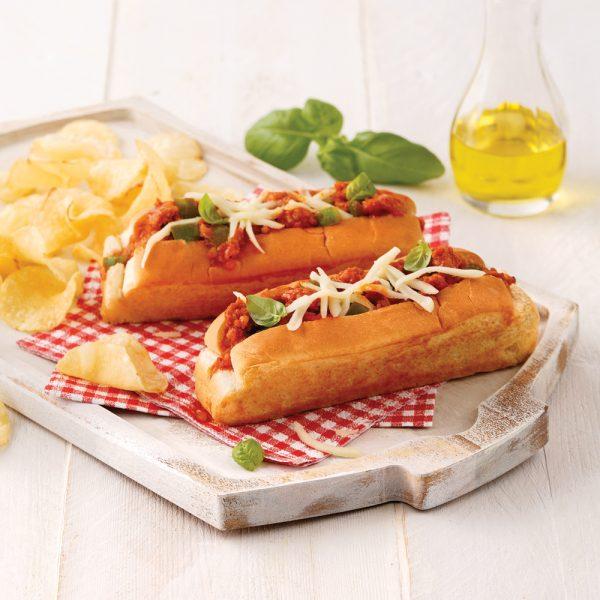 Petits pains aux saucisses italiennes