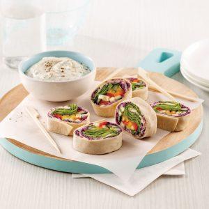 Rouleaux de tortillas aux légumes