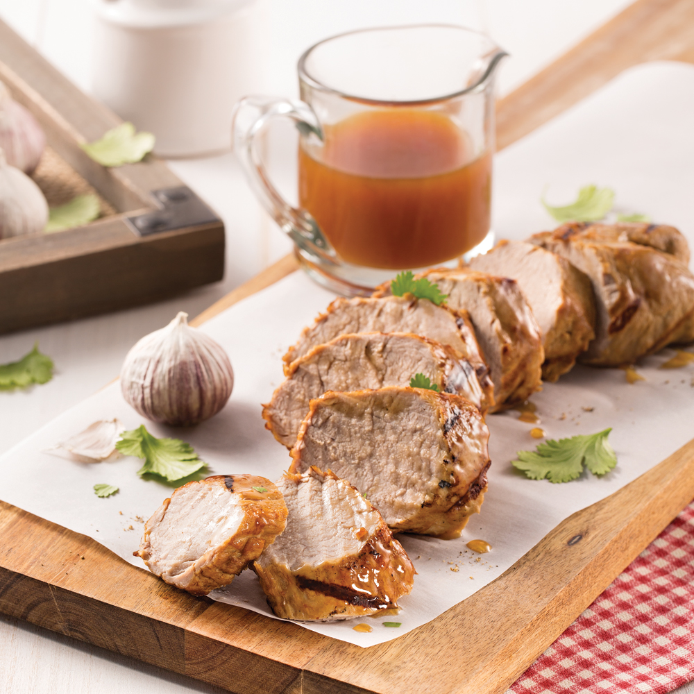 Filet de porc glacé au gingembre
