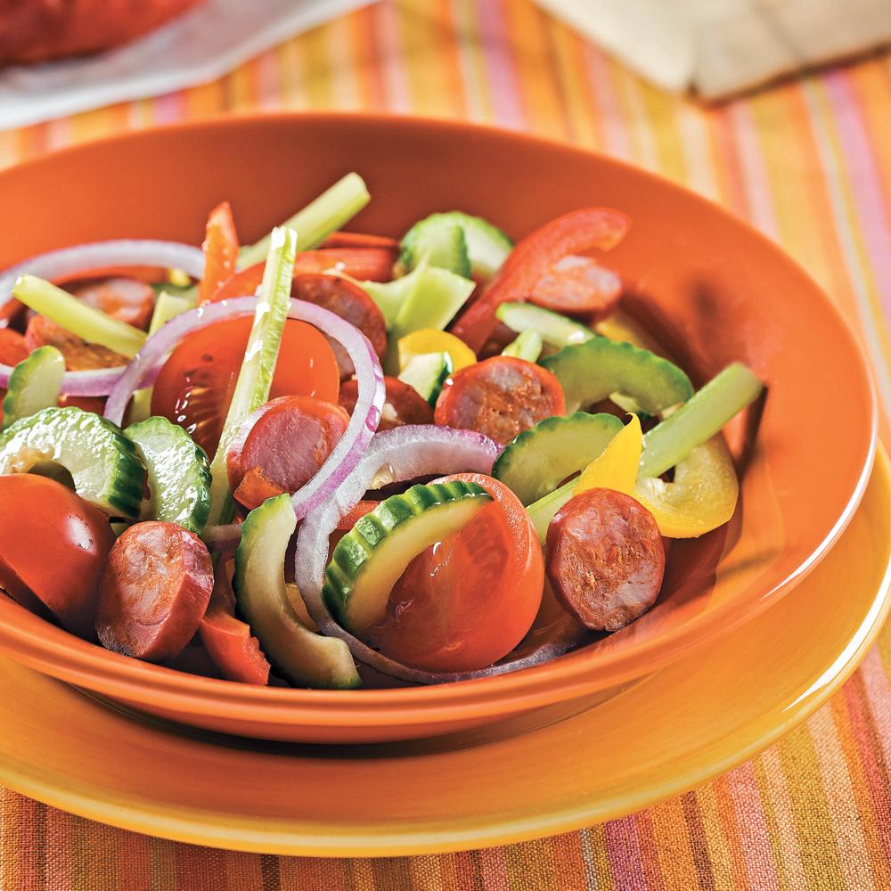 Salade de légumes au chorizo
