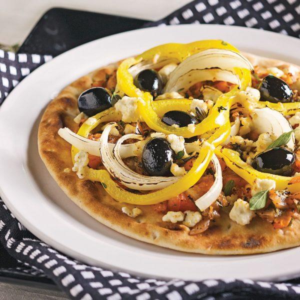 Pizzas à la grecque