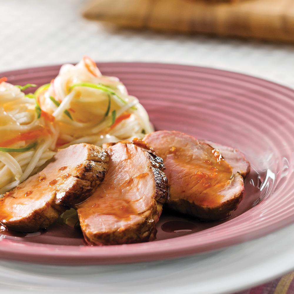 Filets de porc marinés à l'asiatique