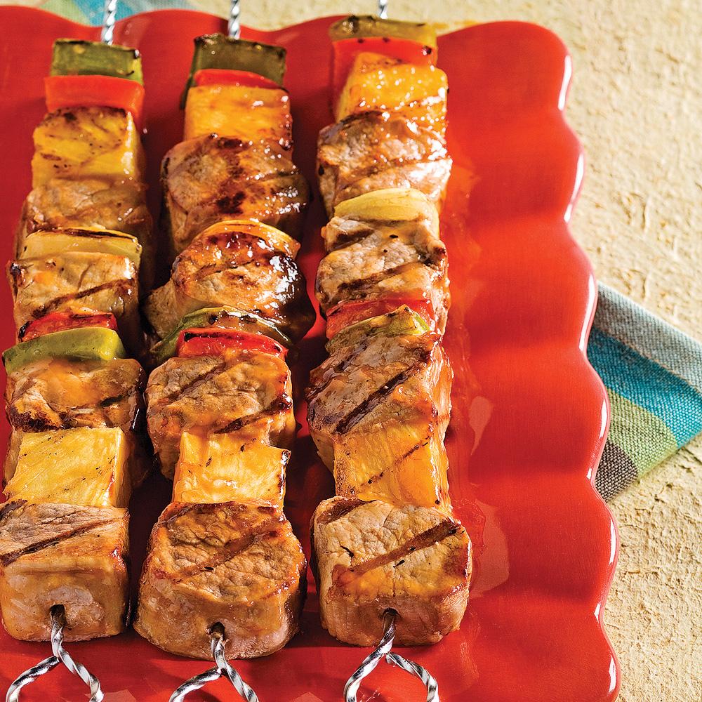 Brochettes de porc aigres-douces en 5 ingrédients, 15 minutes