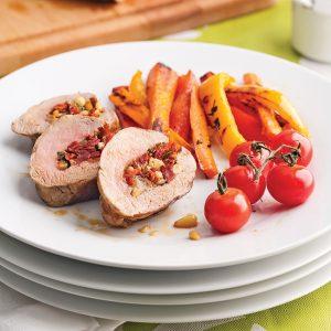 Filet de porc farci aux tomates séchées