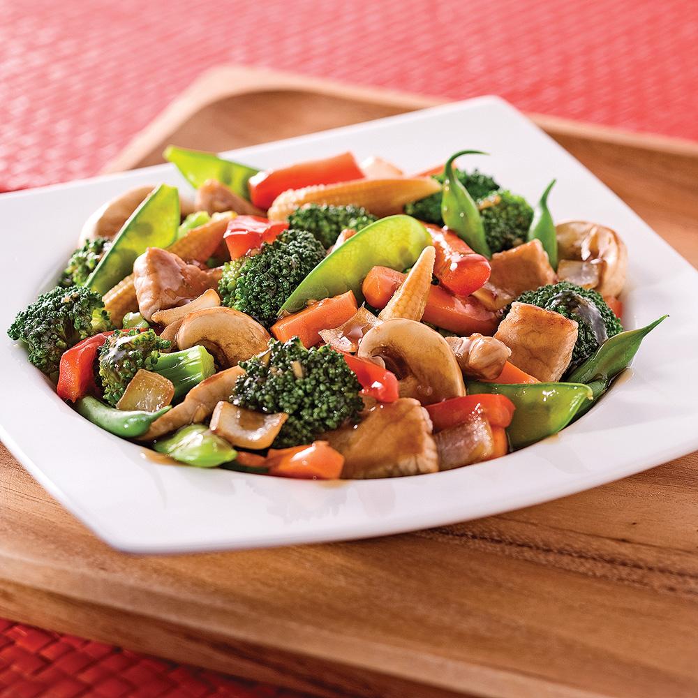 Sauté de porc et légumes à l'asiatique