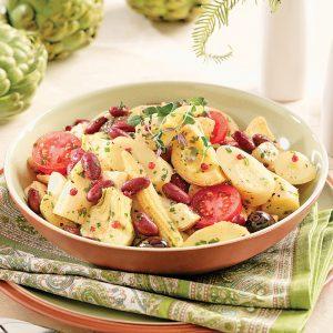 Salade aux légumes marinés