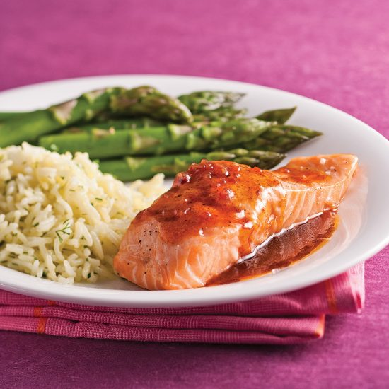 Maple Balsamic Salmon Fillets