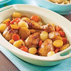 Casserole de pilons de poulet aux cinq épices et à l'érable