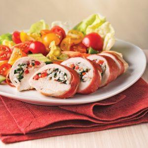 Poitrines de poulet farcies à l'italienne