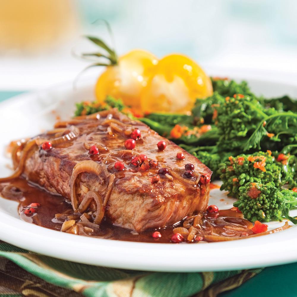 Biftecks aux échalotes