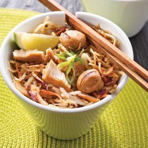 Salade tiède à la thaïe