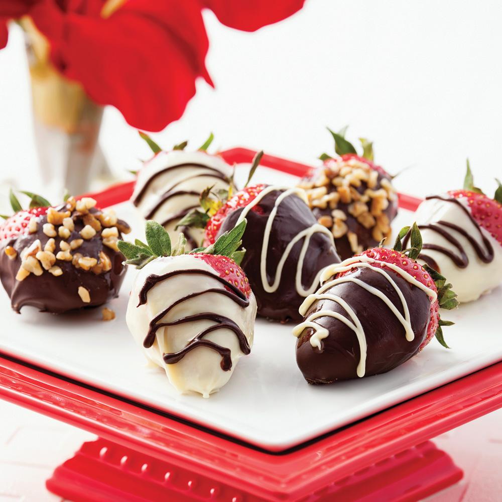 Fraises aux deux chocolats
