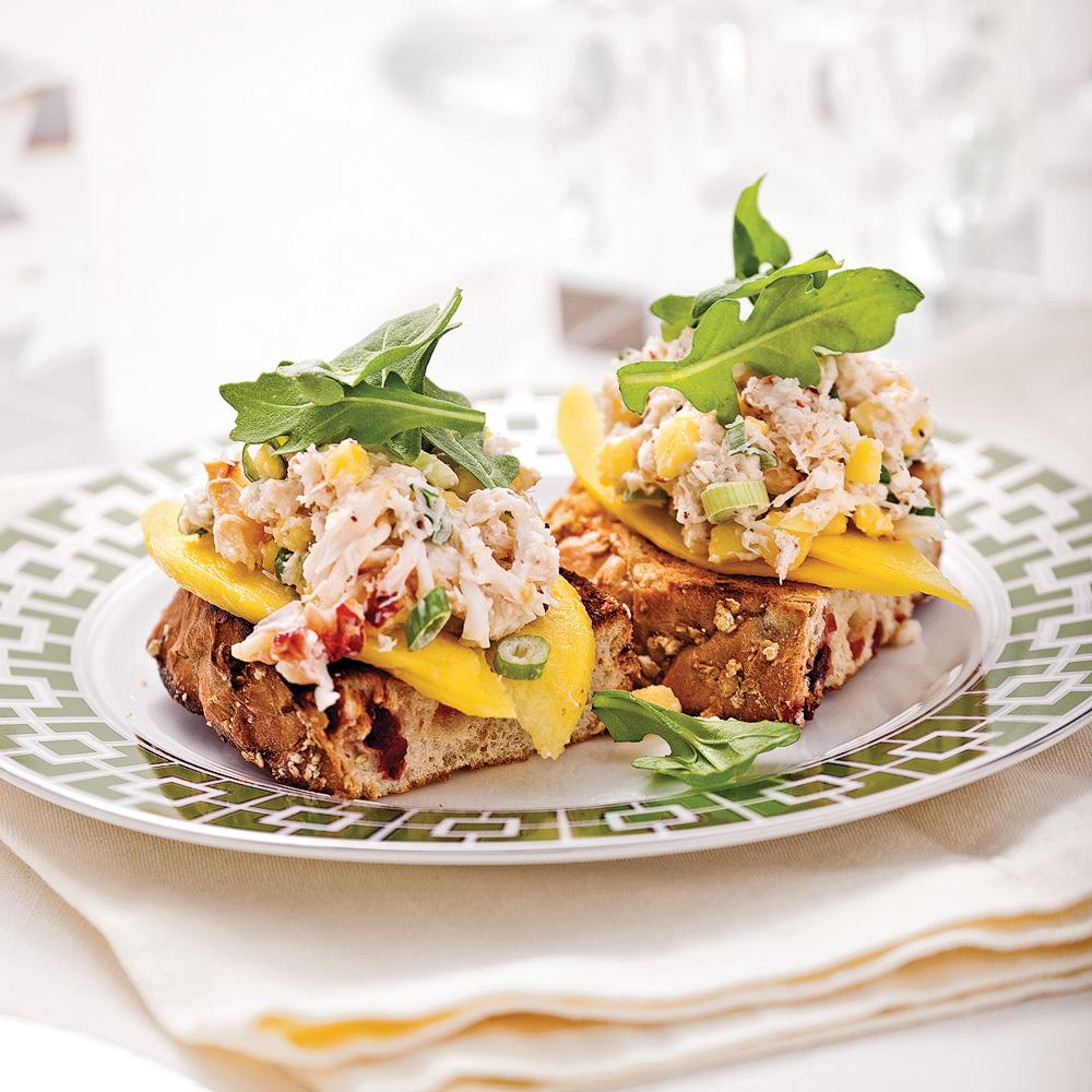Bruschetta crabe et mangue en 5 ingrédients, 15 minutes