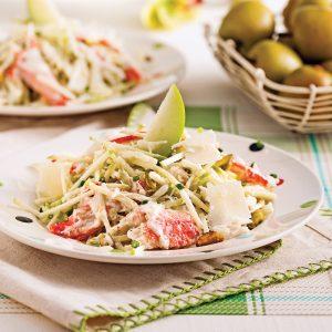 Salade de crabe et pommes
