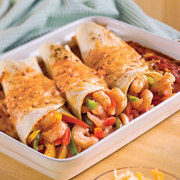 Enchiladas aux crevettes