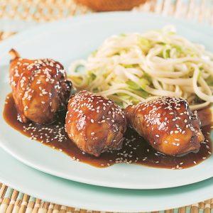 Pilons de poulet, sauce Général Tao