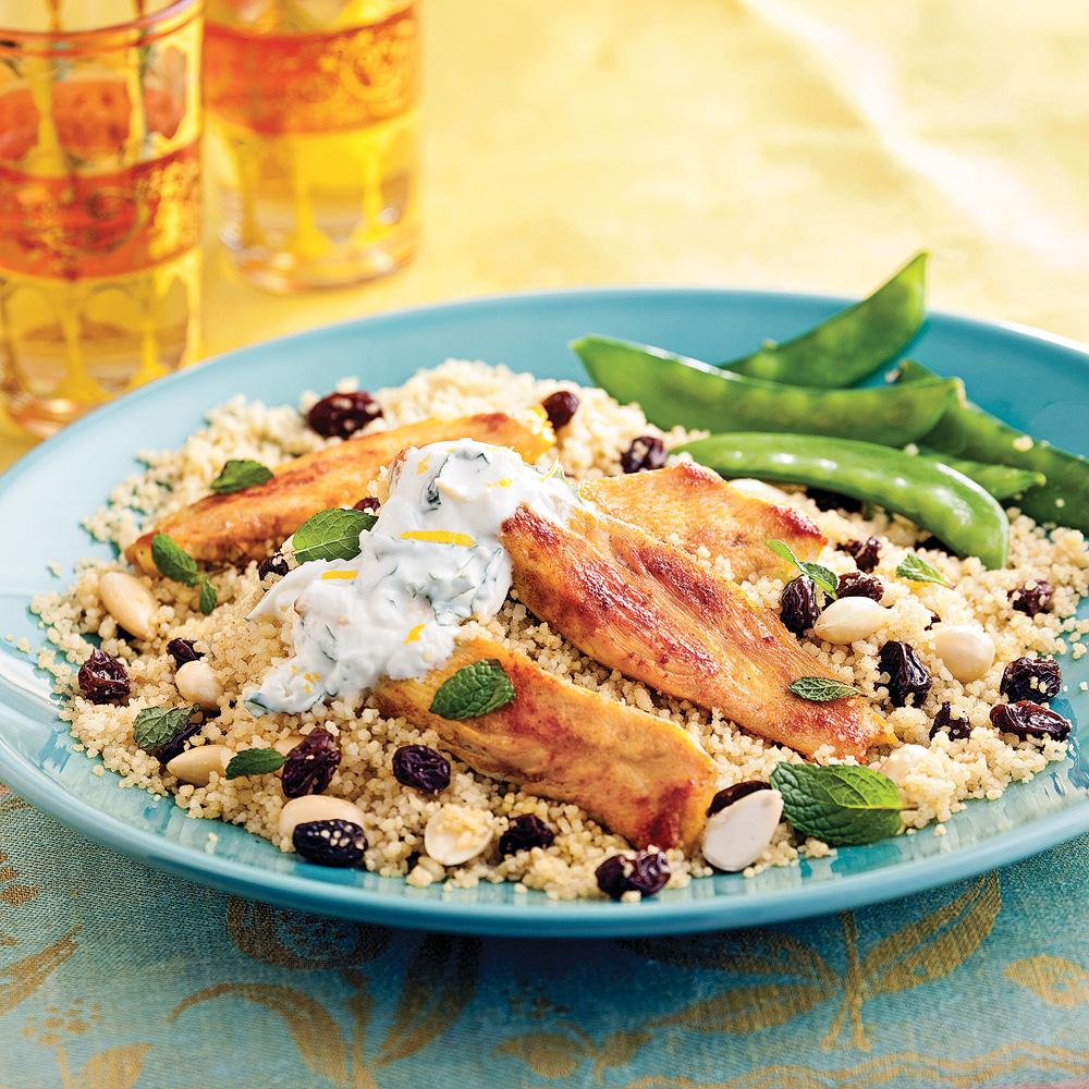 Poulet marocain et couscous