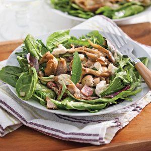 Salade forestière tiède et feta
