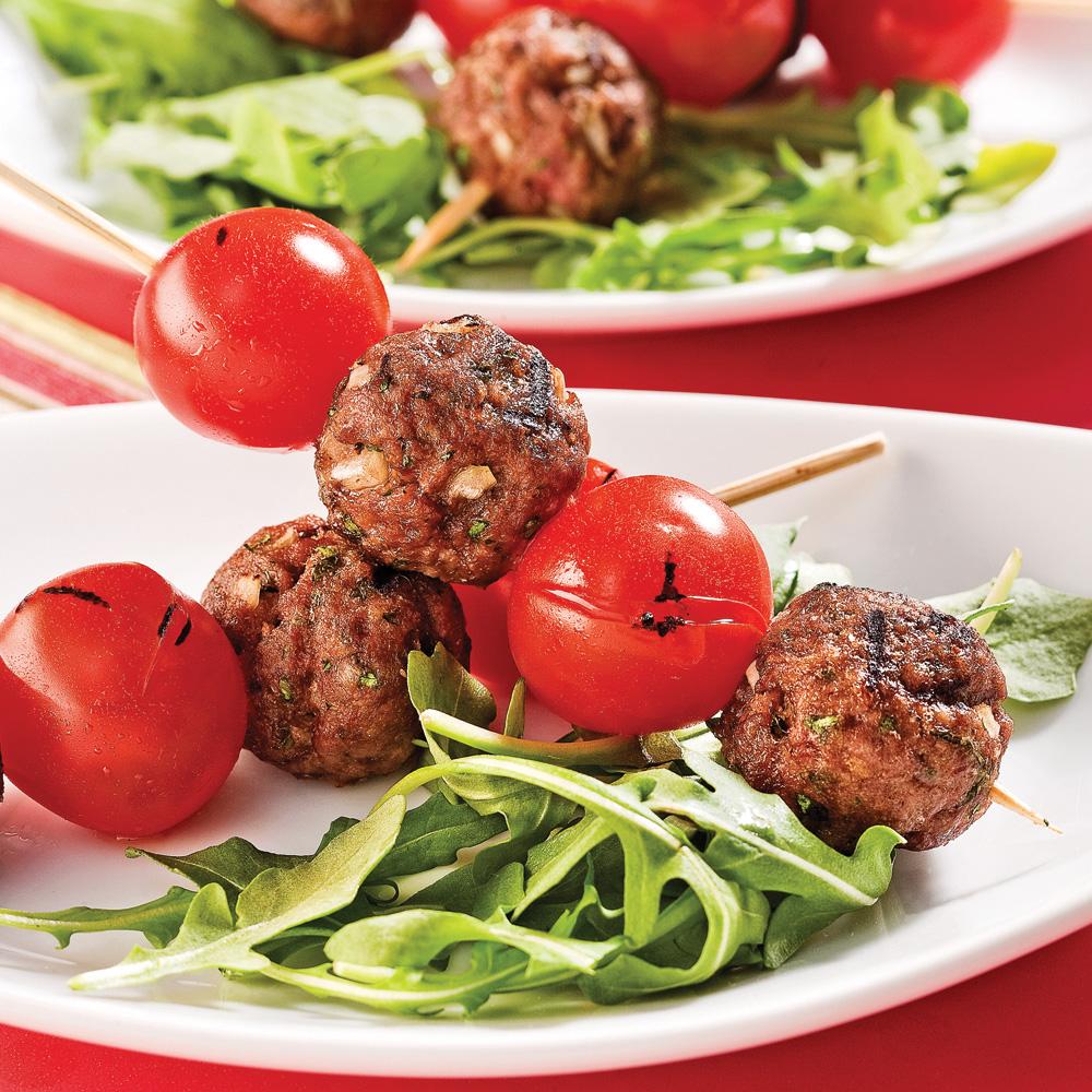 Mini-boulettes d'agneau et tomates cerises