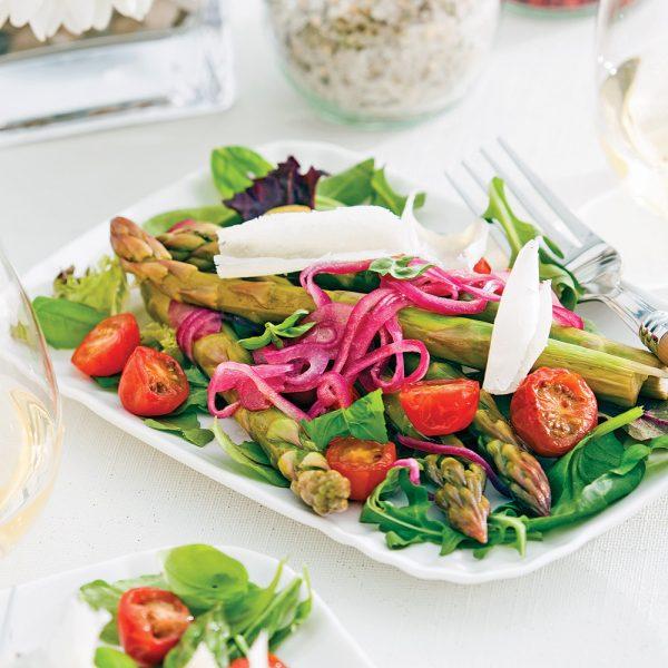 Salade d'asperges en papillote
