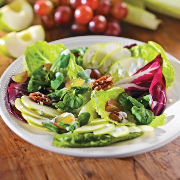 Salade aux pommes et pacanes